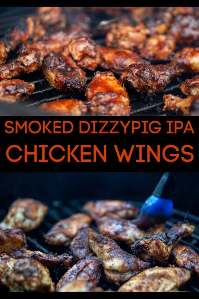 DizzyPig IPA Rub Smoked Chicken Wings are a Fun Alternative for a phenomenal BBQ. This low and slow wing recipe will have your guests eating these the second they are removed from the Big Green Egg! #BGE #BigGreenEgg #Chicken #ChickenWings #Smoked