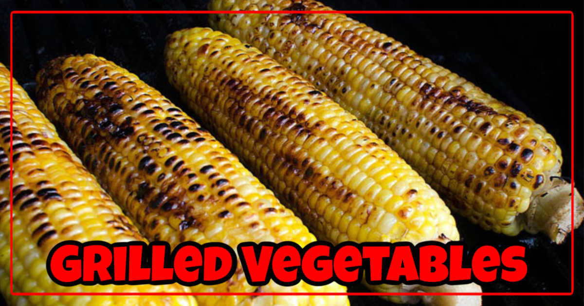 Grilled Vegetables on the BBQ. This is grilled corn on the cob