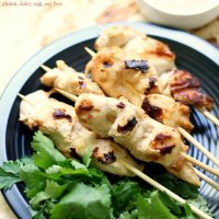 Grilled Chicken Satay Skewers with Peanut Sauce