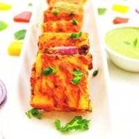 Pineapple stuffed paneer tikka | Grilled Paneer Tikka