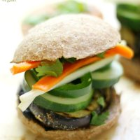 Grilled Eggplant Banh Mi Sliders