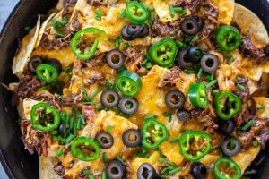 full skillet of nachos