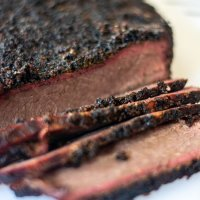 thinly sliced brisket that just falls apart in your mouth