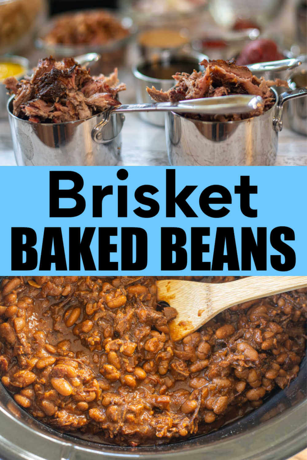 Guinness Brisket Baked Beans in a Slow Cooker