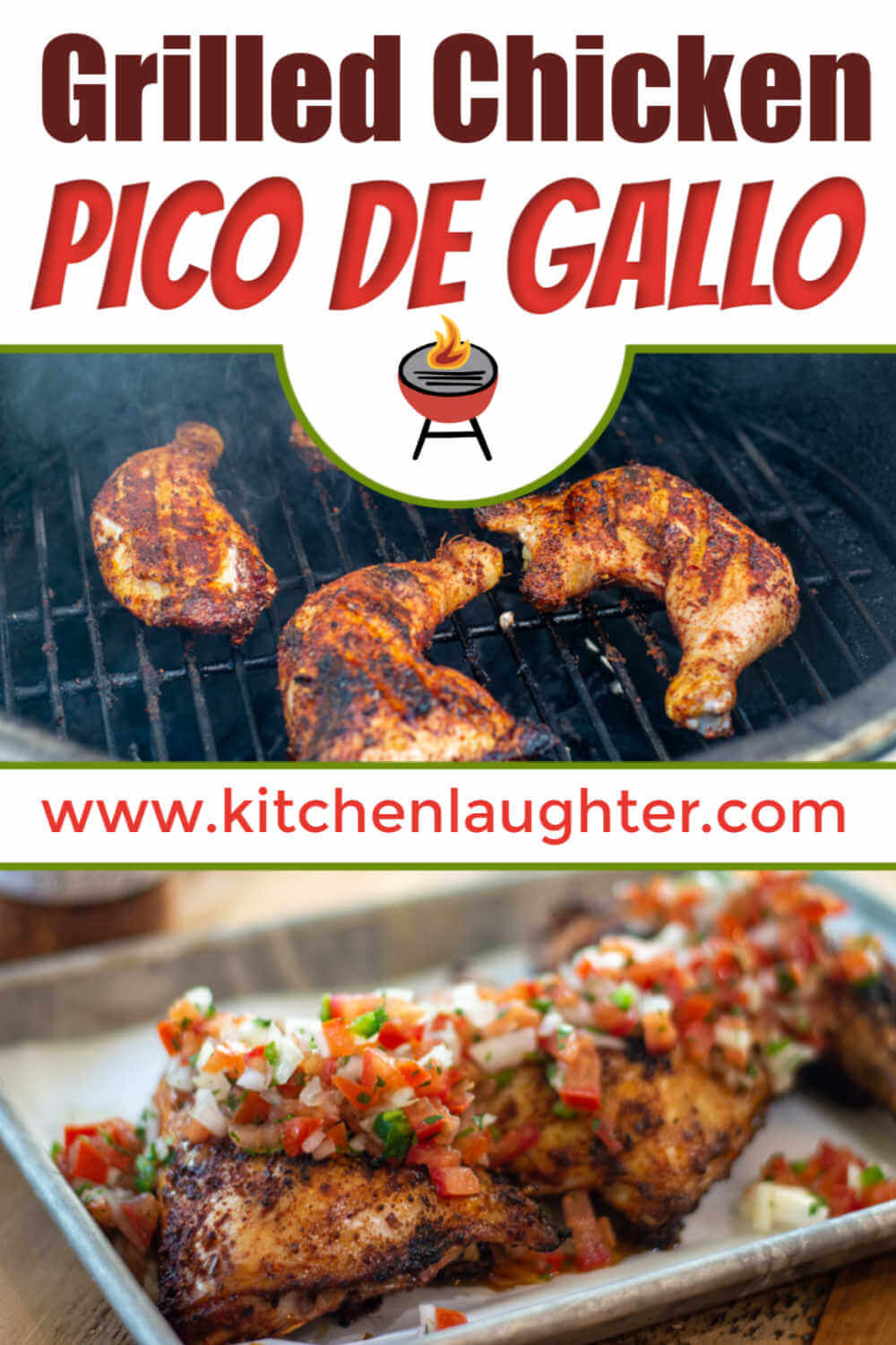 Grilled Chicken with Pico de Gallo {50 Minutes}