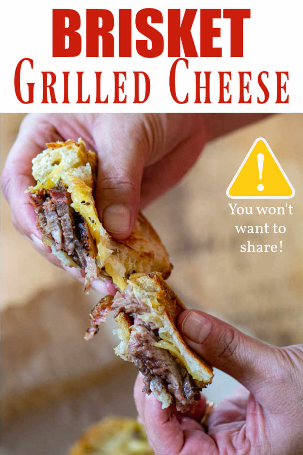 Brisket Grilled Cheese - Grown Up Twist on a Classic