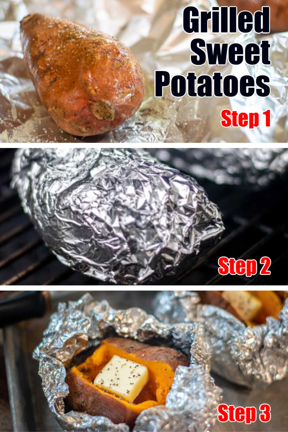 Grilled Baked Sweet Potatoes in Foil | BBQ Side Dish