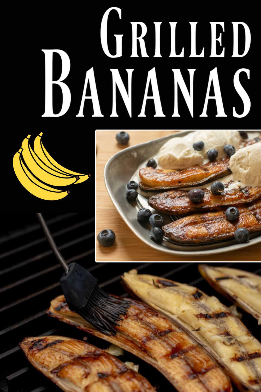 Grilled Honey Cinnamon Bananas