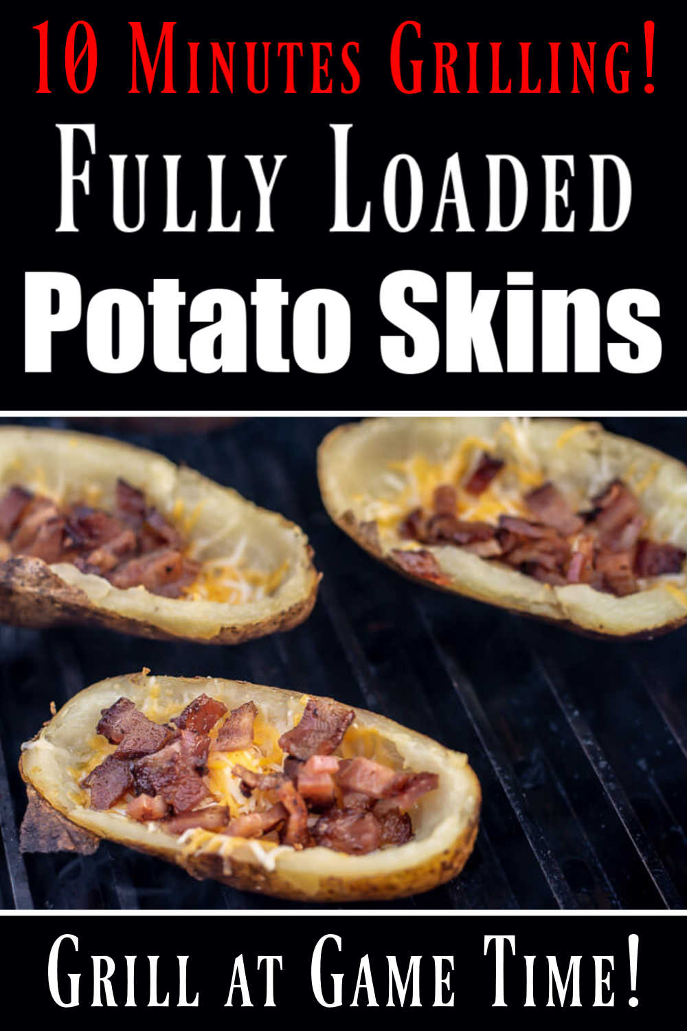 Mouthwatering Cheesy Grilled Potato Skins Recipe
