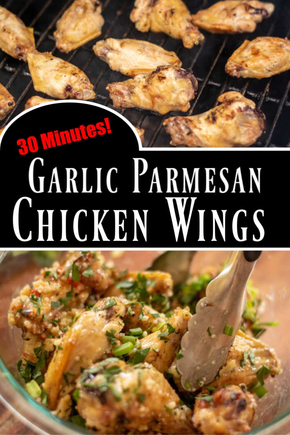 Grilled Garlic Parmesan Chicken Wings