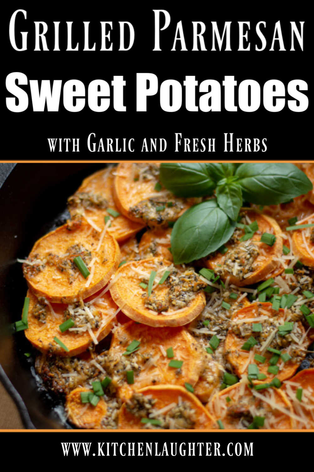 Grilled Parmesan Sweet Potatoes Recipe