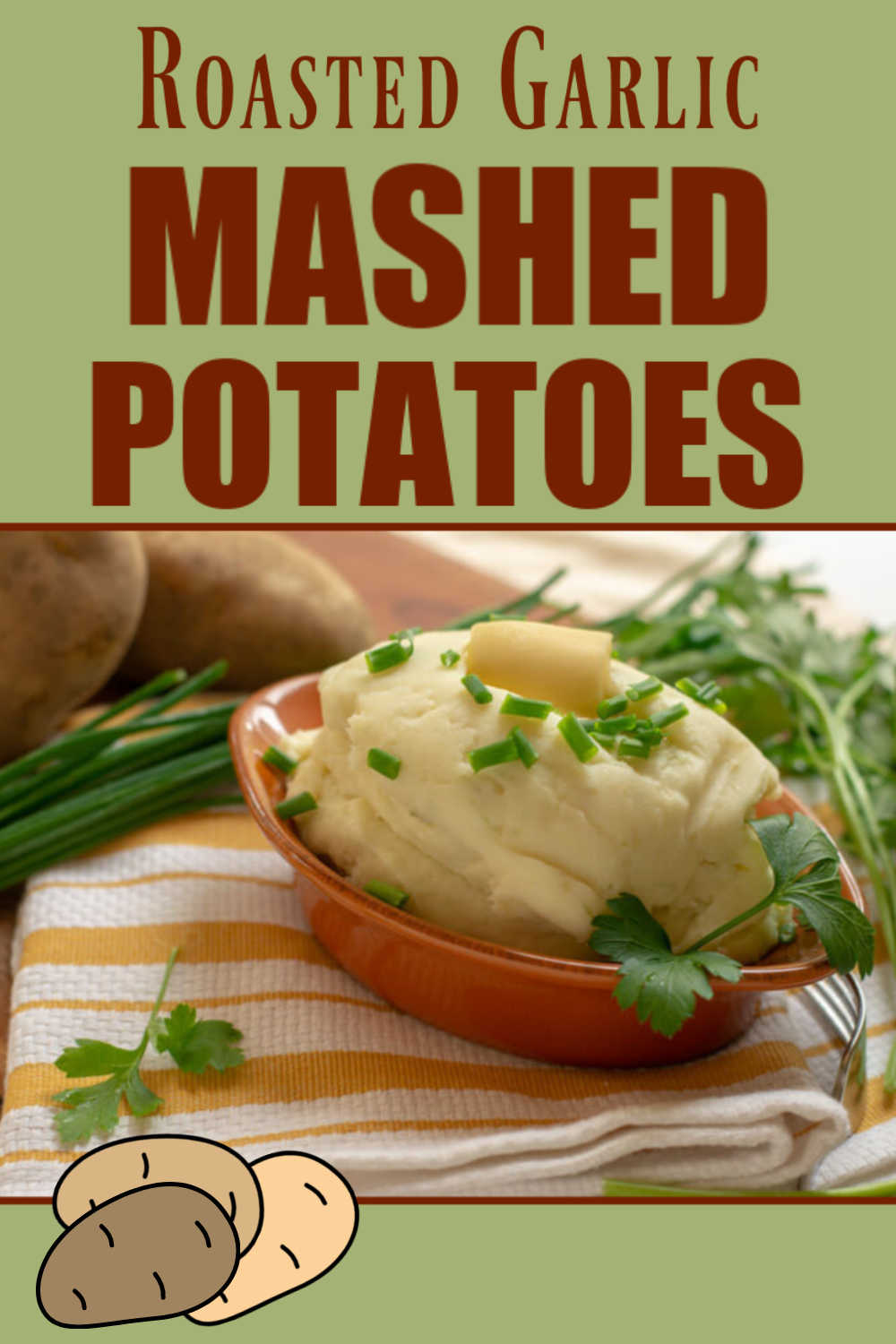Roasted Garlic Mashed Potatoes with Cream Cheese