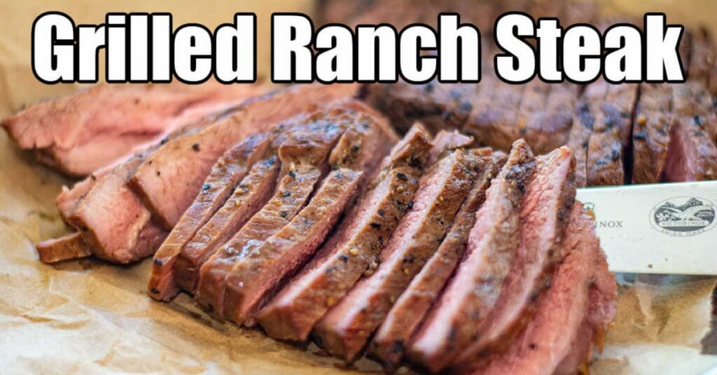 ranch steak sliced thin after being marinated and grilled