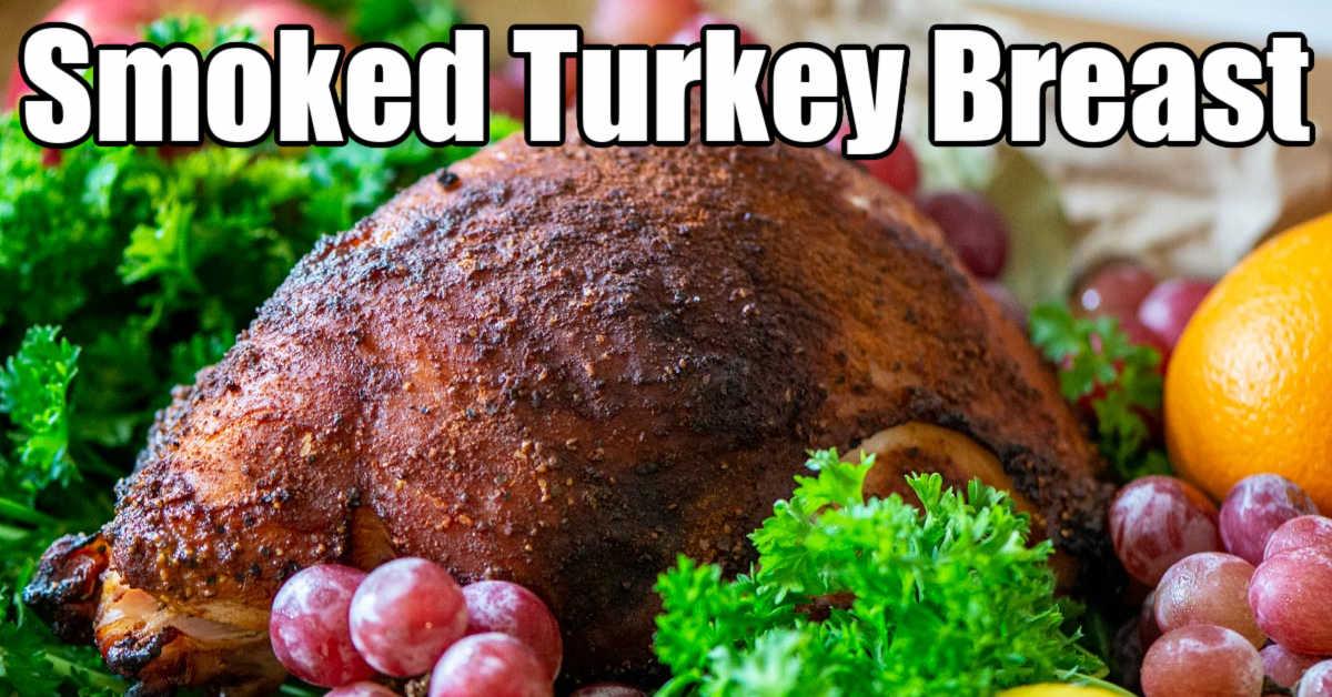 smoked turkey breast nestles amongst fruit and greens