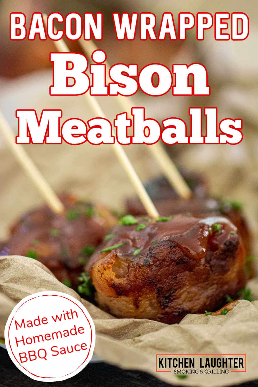 Bacon Wrapped Grilled Bison Meatballs {35 Minutes}