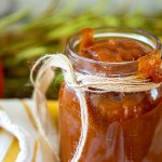 jar of smoked pumpkin BBQ sauce with bourbon