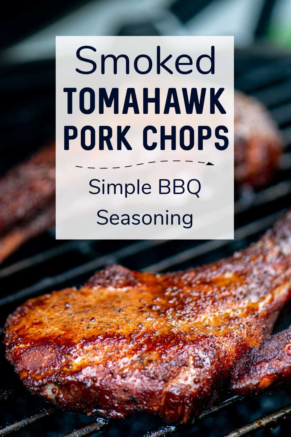 Smoked Tomahawk Pork Chops