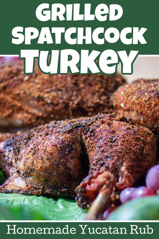 Grilled Spatchcock Turkey with Yucatan Dry Rub