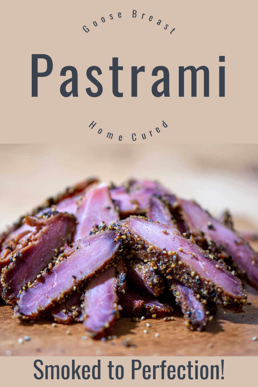 Smoked Goose Breast Pastrami