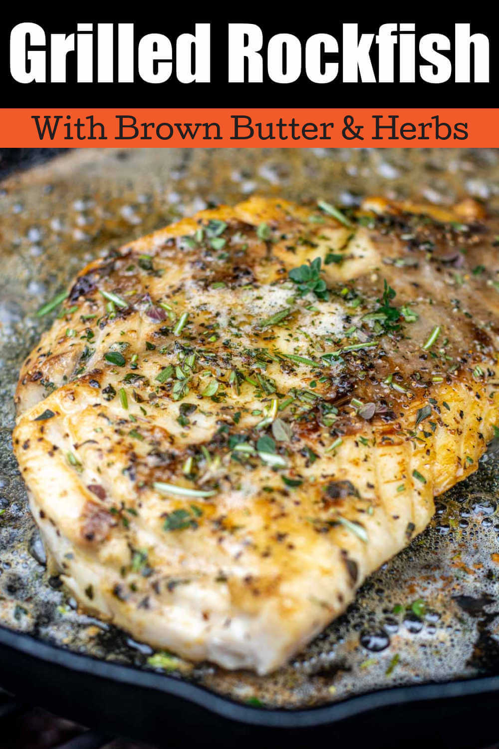 Grilled Brown Butter Wild Pacific Rockfish {15 Minutes}