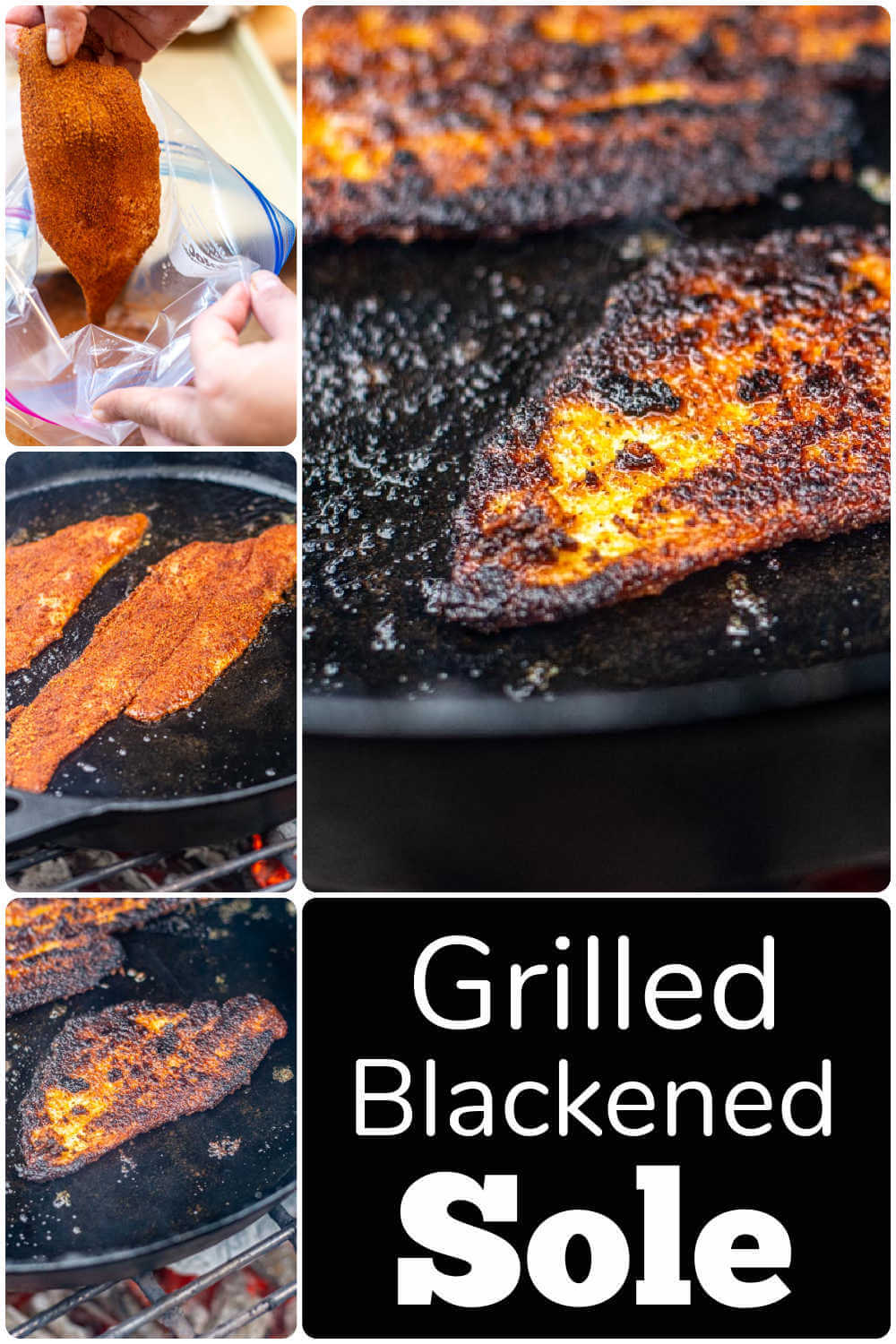 Grilled Blackened Dover Sole {10 Minutes}