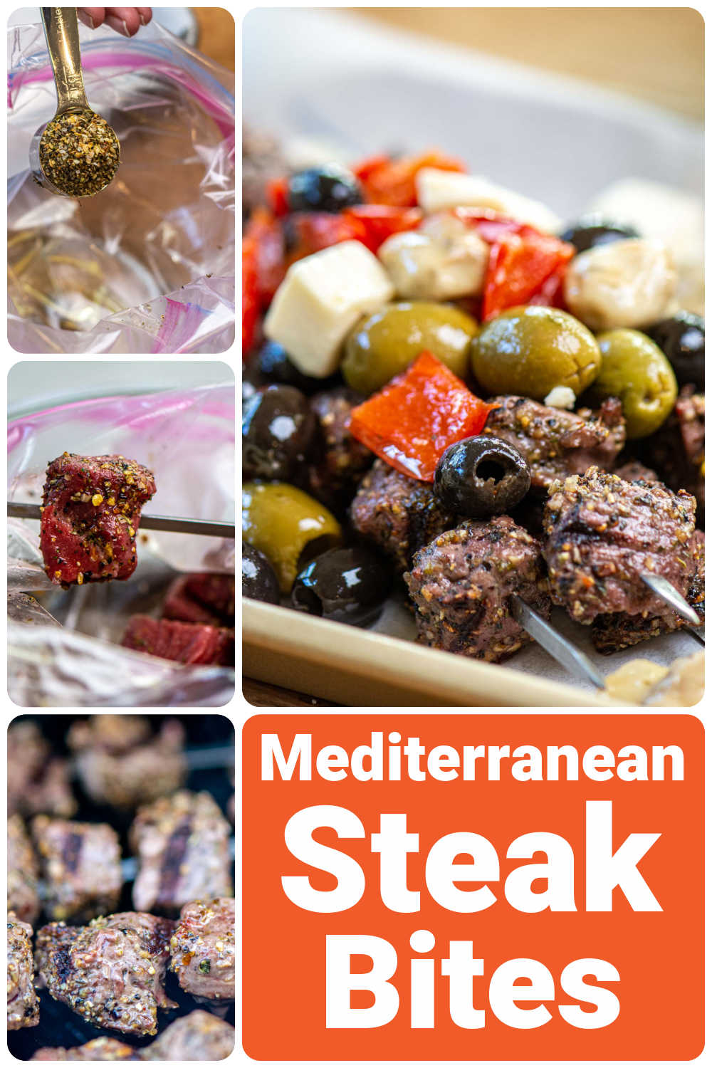 Grilled Greek Steak Bites {15 Minutes}