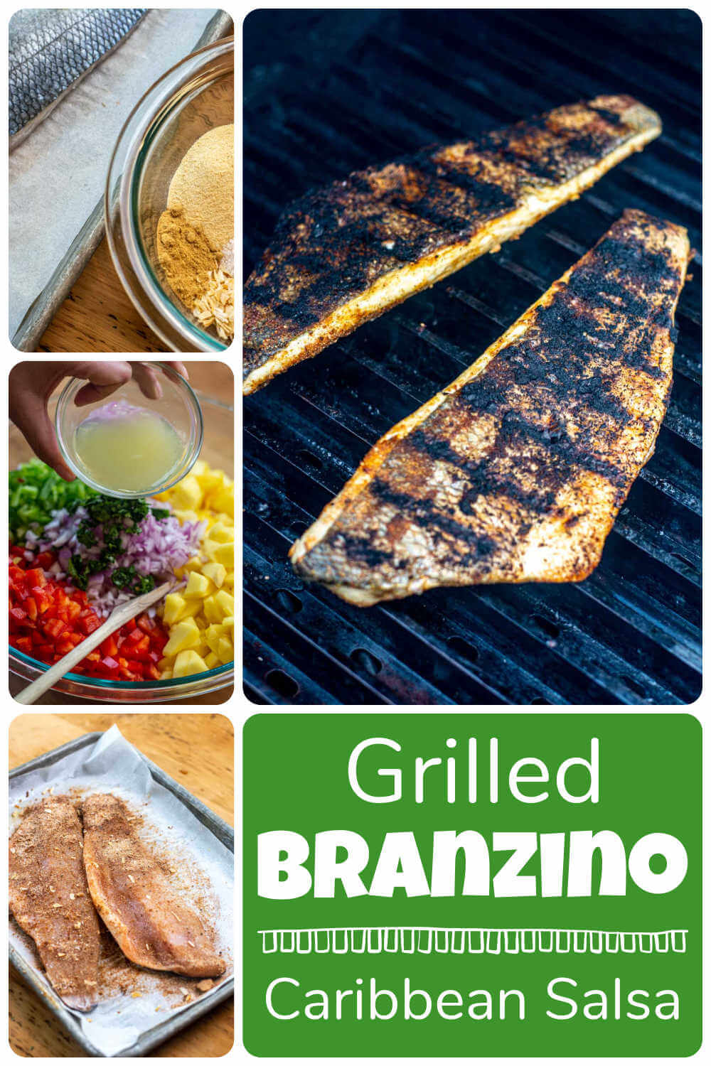 Grilled Branzino with Caribbean Fruit Salsa {30 Minutes}