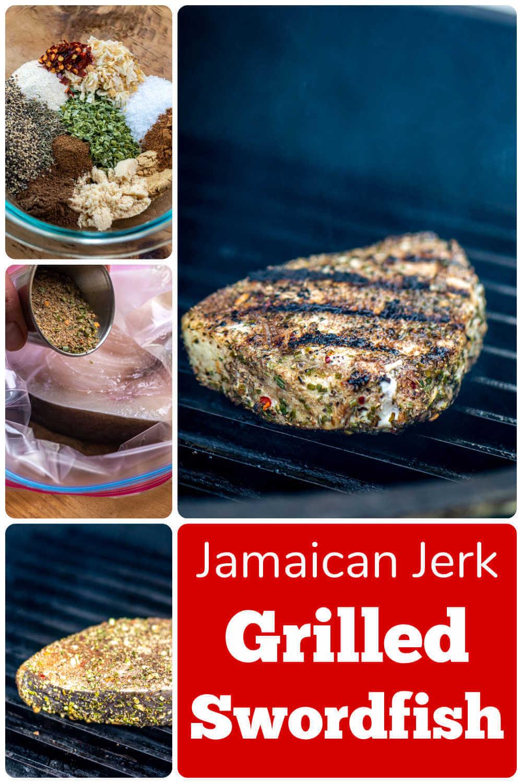 Grilled Jamaican Jerk Swordfish {10 Minutes}