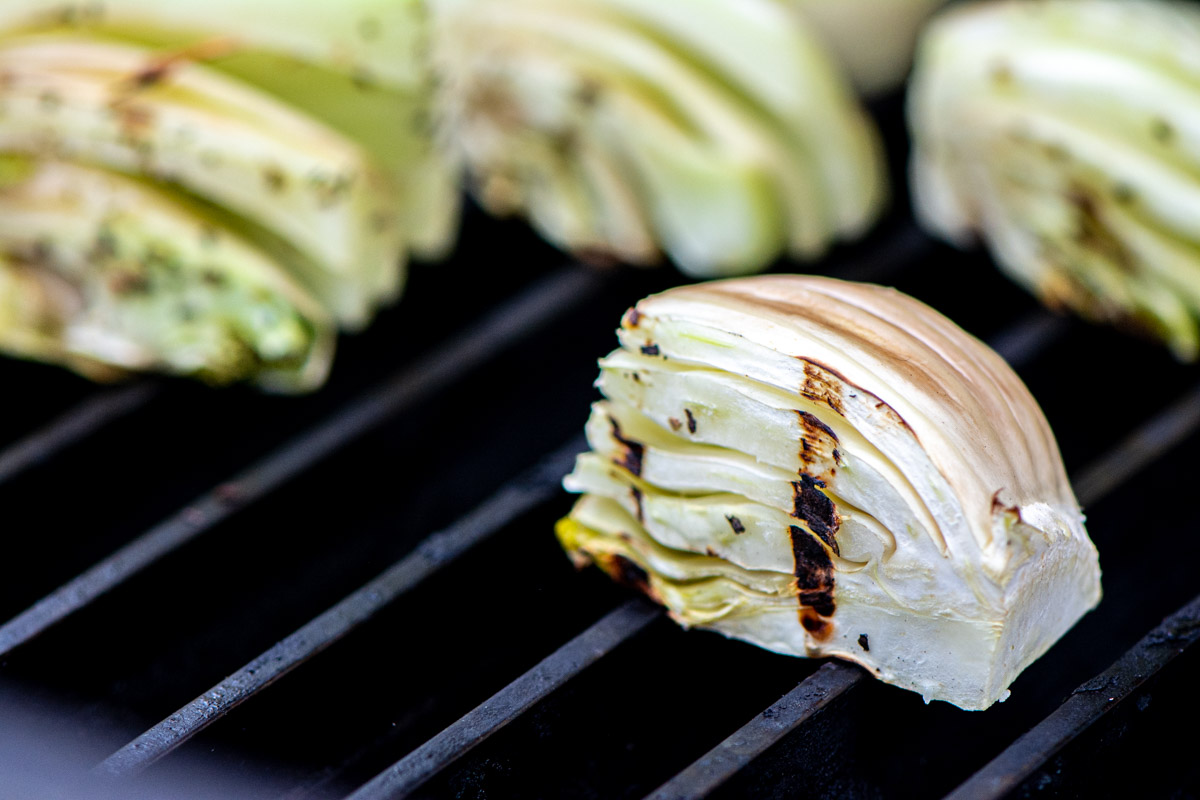 quartered fennel bulb on a GrillGrate with a nice sear mark.
