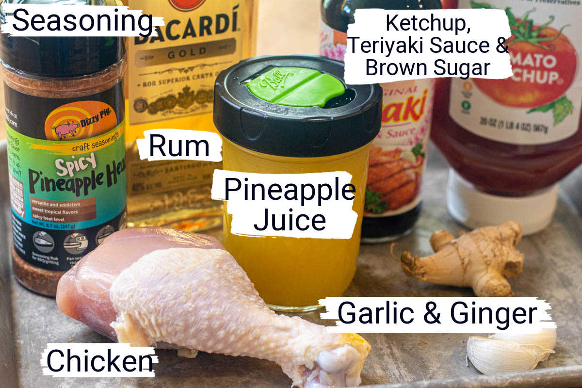 ingredient photo showing everything needed on a sheet pan with labels.