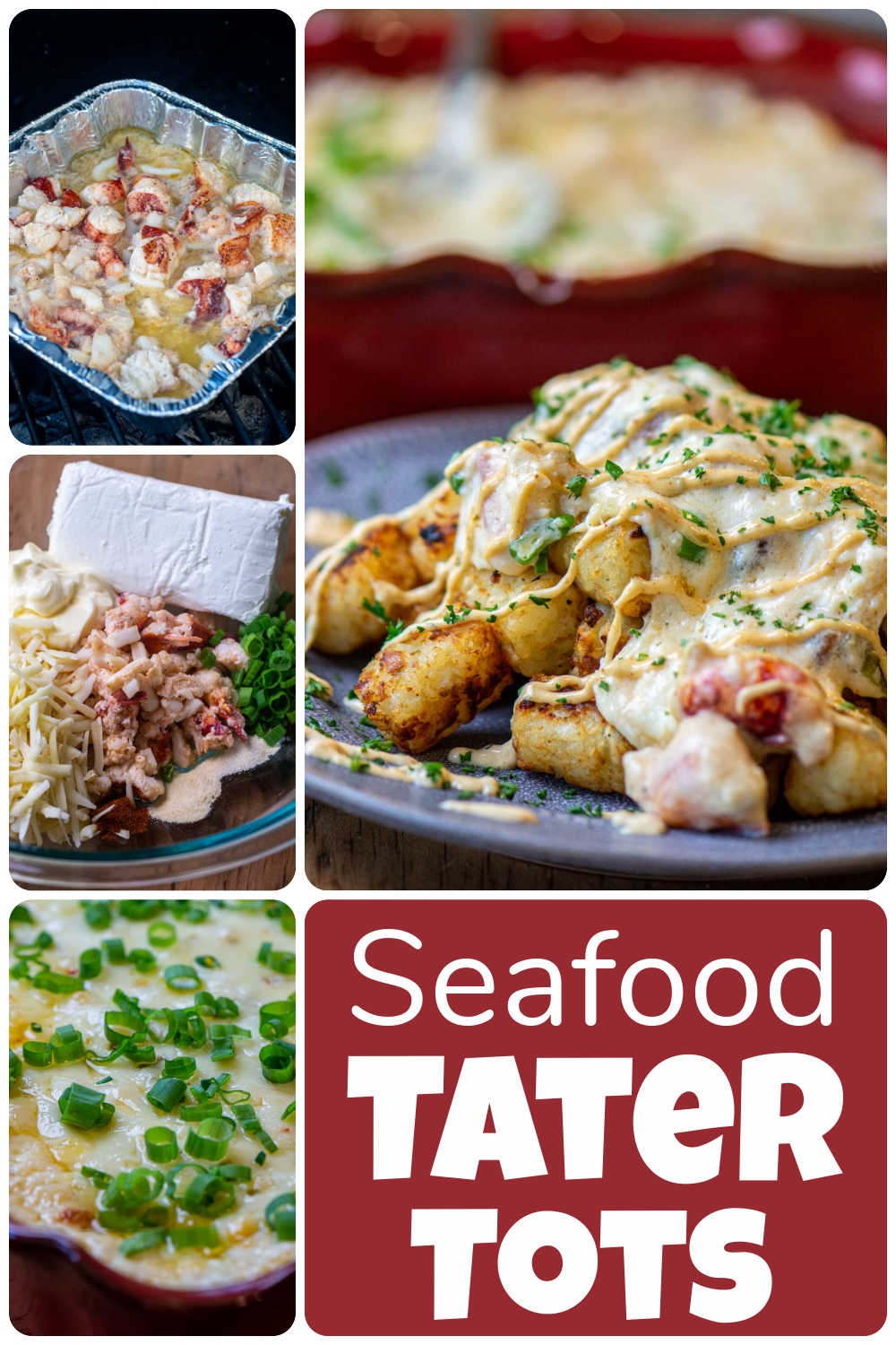 Grilled Seafood Tater Tots with Creamy Remoulade Sauce {50 Minutes}
