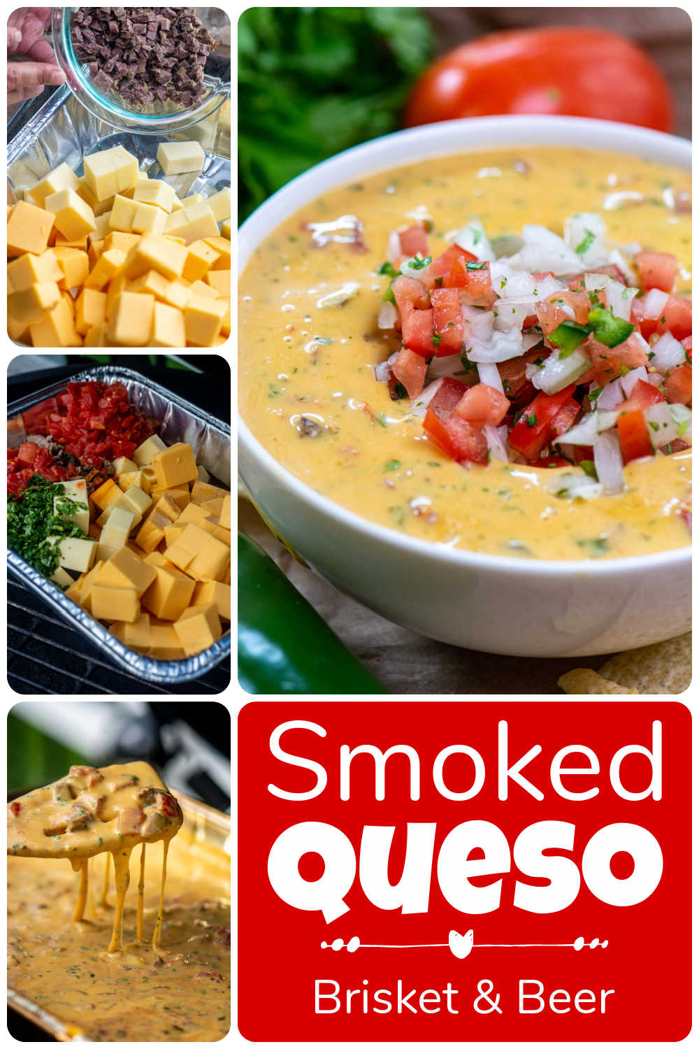 Smoked Brisket and Beer Queso