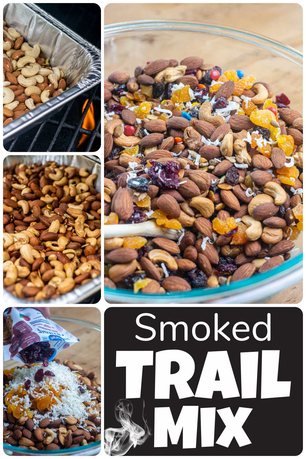 Smoked Trail Mix {Snack for Hiking/Camping/Traveling}