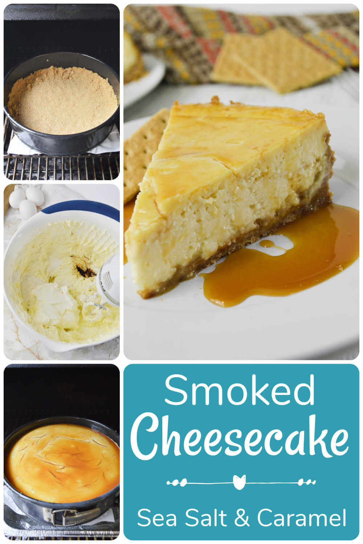Sea Salt Caramel Smoked Cheesecake