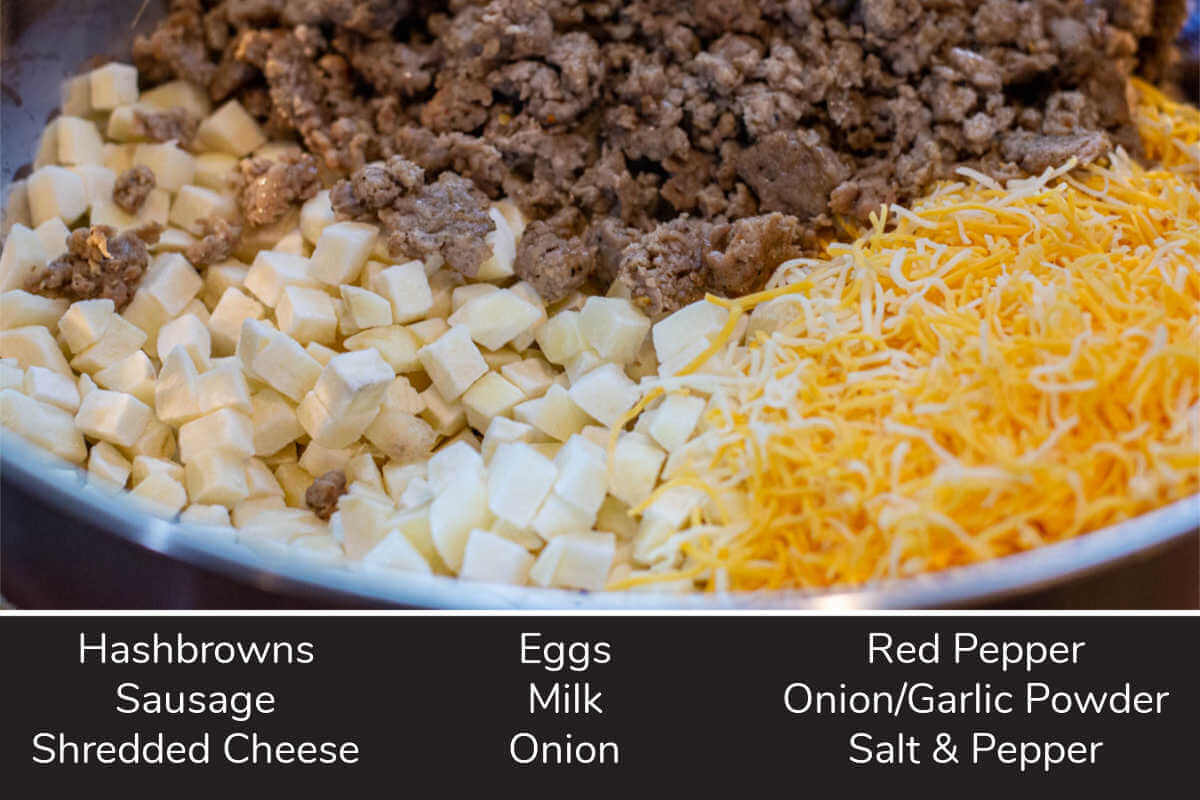 ingredient photo showing everything in a large bowl with labels.