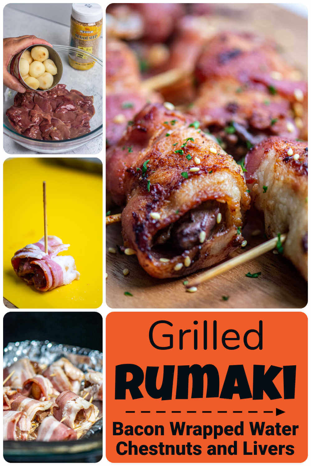 Grilled Rumaki {30 Minutes Grilling}